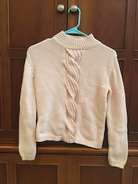 Kate Hill Petite Women's Cable Knit Sweater in Blush (size: P/S) Silver Spring, 20906