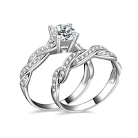 silver ring with clear gemstones set Clarksville, 37042
