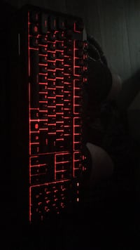 Black and red computer keyboard Calgary, T3J 3J9