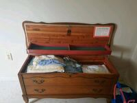 brown wooden chest box with two white ceramic bowls Hamilton, L8S