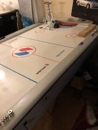 Very well used air hockey table