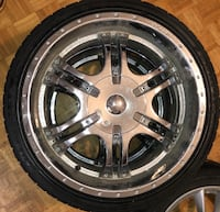"$100 EACH-20"" Chrome Rims with Tires Toronto, M1R 3N6"