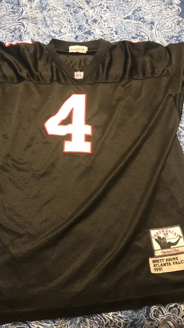 huge selection of 6cd9a 9d5bd Used Brett favre rookie Atlanta hawks throwback jersey for ...