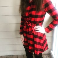 red and black plaid print long sleeve dress Durham, 27703