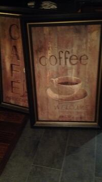 2 beautiful cafe paintings would be awesome especially if you own a small cafe or even restaurant that serves coffee null, V0R