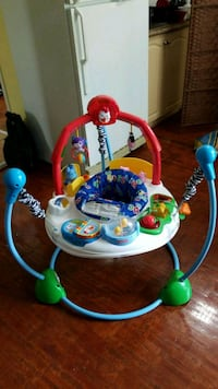 Fisher price baby's white and blue jumperoo Toronto, M1L 3V5