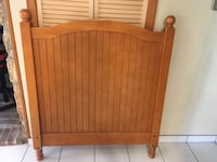 Brown wooden twin bed headboard Holbrook, 11741