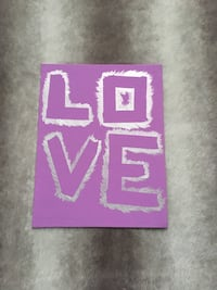 purple and white love-printed wall decor Halifax, B3T 2A5