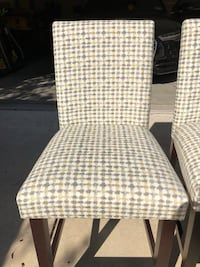 White and gray padded chairs. Set of 4 San Ramon, 94583