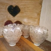 two clear glass footed bowls Thomasville, 27360