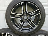 Set of 4 OEM Ford Mustang Wheels with Tires Stamford