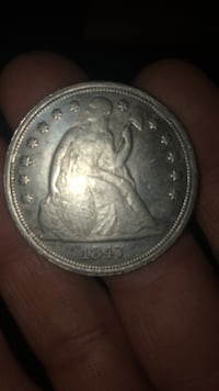 1847 One Dollar US Liberty Coin