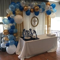 Personalized balloon garland backdrop Vaughan