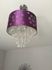 Purple and white floral  ceiling lamp Brampton, L6V 2E3