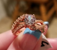 Two tone white sapphire ring.... size 5 Jurupa Valley