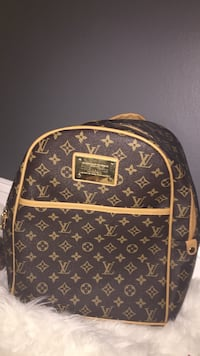 Brown and black louis vuitton leather backpack Woodbridge, 22192