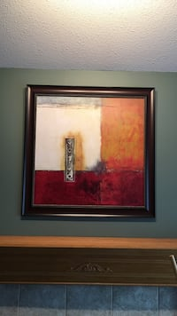 square black-frame with abstract painting Surrey, V3W 0S3