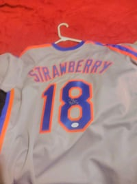 Daryl strawberry autographed jersey mets New Richmond, 45157