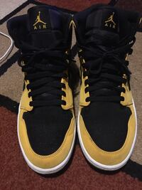 Black and yellow suede Jordan 1s (size 10 1/2) Columbia, 29209