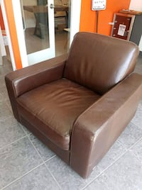 Leather chair and ottoman  3745 km