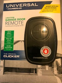 New 2 Button Garage Door opener.  Springfield, 22150