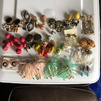 18 Pair of Clip On Earrings Longs, 29568