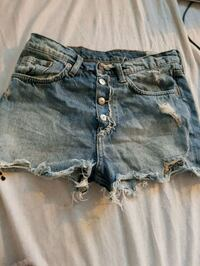 distressed blåvasket denim korte shorts Ålesund, 6003
