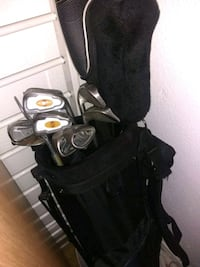 Golf Clubs w/Bag and extra balls and tees.