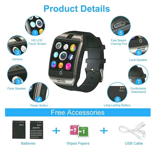 Smart watch black  0