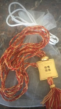 Hermes 24 Faubourg Collector's Costume Charm Necklace On A Colored Adjustable Yarn  Beverly Hills, 90212