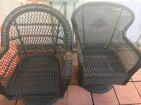 Two pier one swivel outdoor rocking chairs Oceanside, 92054