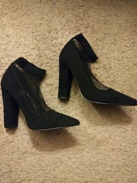 High heel fishnet shoe