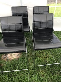4 black leather padded chairs Miami Gardens, 33056