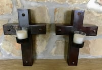 Iron Crosses with Votive Candles