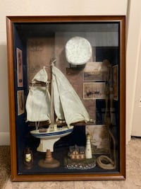 """Vintage 1999 Window Pane Curio Collection """" NAUTICAL"""" College Station, 77840"""