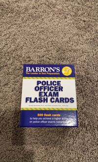 Police officer exam study cards