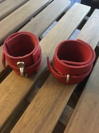 Red leather handcuffs/anklecuffs  Burbank, 91504