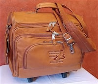 Canyon Outback Cowhide Leather ROLLING BRIEFCASE / BAG Andover