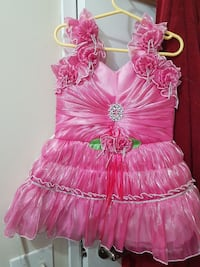toddler's pink tank tulle gown