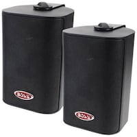 Boss Audio MR4.3W 200-Watt Indoor/Outdoor Weatherproof 3-Way Speaker System - Black - Pair Brampton