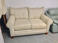 Beige cindy crawford fabric single loveseat Jacksonville, 32218