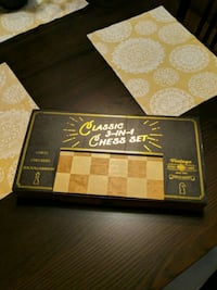 Vintage 3 in 1 Chess set