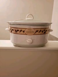 Rival Crock Pot Stoneware Slow Cooker 6 1/2 quart.