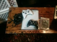 White xbox 360 all cords with 2 controllers  Edmonton, T6A