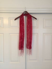 Sheer Red Scarf
