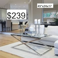 New Chrome Steel Coffee Table Toronto