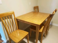 brown wooden dining table set Toronto, M1W 3W2