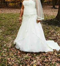 women's white floral strapless wedding dress Laurel, 20723