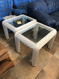 Pair of wicker end tables  705 mi