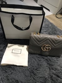 Gucci marmont grey bag